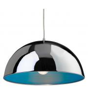 Firstlight Bistro 1 Light Ceiling Pendant Chrome/Blue (Chrome)