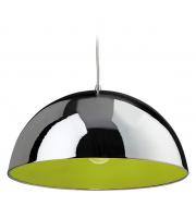 Firstlight Bistro 1 Light Ceiling Pendant Chrome (Green Finish)