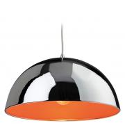 Firstlight Bistro Art Deco Modern Polished Chrome Ceiling Hanging Light Pendant (Orange)