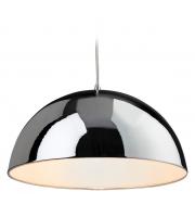 Firstlight Bistro 1 Light Ceiling Pendant in Chrome (White)