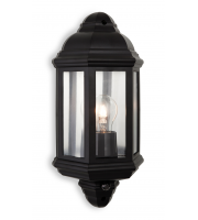 Firstlight Park Wall Light with PIR (Black)