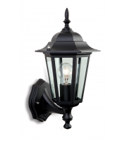 Firstlight 6 Panel Wall Lantern (Black)