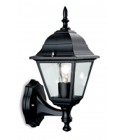 Firstlight 4 Panel Wall Lantern (Black)