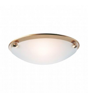 Firstlight Champagne Flush Ceiling Light (Satin Brass)