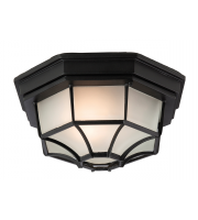 Firstlight 6 Panel Lantern Flush Fitting (Black)