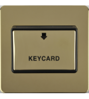 Scheider Electric Usfp Polished Brass Black Insert 32A Keycard Switch