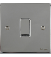 Scheider Electric Ulp Polished Chrome White Insert 1 Gang Intermediate 16AX Plate Switch