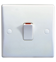 Schneider Electric GET Ultimate 20A Double Pole Switch with Flex Outlet (White)