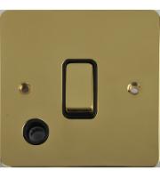 Scheider Electric Ufp Polished Brass Black Insert 20AX Dp Switch + Flex Outlet
