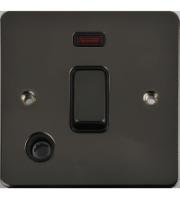 Scheider Electric Ufp Black Nickel Black Insert 20AX Dp Switch + Neon + Flex Outlet