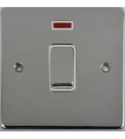 Scheider Electric Ulp Polished Chrome White Insert 20AX Dp Switch + Neon