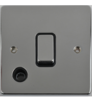 Scheider Electric Ulp Polished Chrome Black Insert 20AX Dp Switch + Flex Outlet