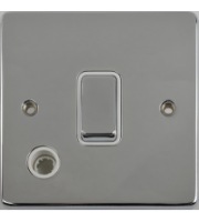 Scheider Electric Ulp Polished Chrome White Insert 20AX Dp Switch + Flex Outlet