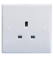 Schneider Electric GET Ultimate 1G 13A Unswitched Socket (White)