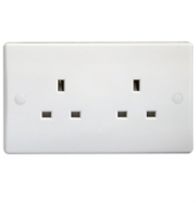 Schneider Electric GET Ultimate 2G 13A Unswitched Socket (White)