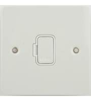 Scheider Electric Ufp 13A Unswitched Fused Connection Unit (White Metal)