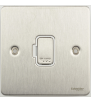 Scheider Electric Ufp 13A Unswitched Fused Connection Unit (Stainless Steel)