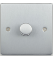 Scheider Electric Ulp Brushed Chrome 1 Gang 2 Way 400W/VA Mains & Lv Dimmer