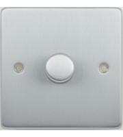 Scheider Electric Ulp Polished Chrome 1 Gang 2 Way 400W/VA Mains & Lv Dimmer