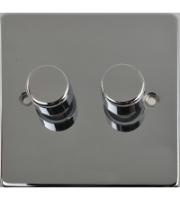 Scheider Electric Ulp Polished Chrome 2 Gang 2 Way 250W/VA Mains & Lv Dimmer