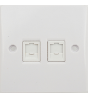 Schneider Electric GET Ultimate RJ45 Twin Data Outlet (White)