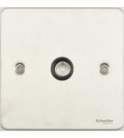 Schneider Electric Ultimate Flat Plate 1G COAX Socket (Stainless Steel)