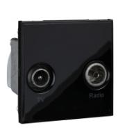 Scheider Electric Euro Module Black Tv/radio (diplexed) - 50 X 50mm