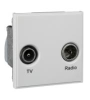 Scheider Electric Euro Module White Tv/radio (diplexed) - 50 X 50mm