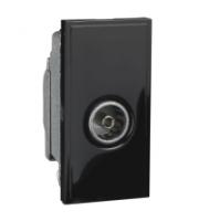 Scheider Electric Euro Module Black Single Iec Coax (female) - 25 X 50mm
