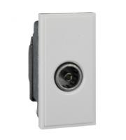 Scheider Electric Euro Module White Single Iec Coax (female) - 25 X 50mm