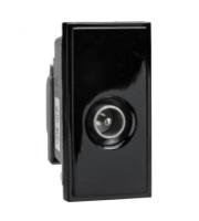 Scheider Electric Euro Module Black Single Iec Coax (male) - 25 X 50mm