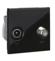 Scheider Electric Euro Module Black Tv/sat - (diplexed) 50 X 50mm