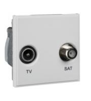 Scheider Electric Euro Module White Tv/sat - (diplexed) 50 X 50mm
