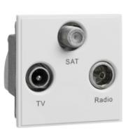 Scheider Electric Euro Module White TV/Radio/Sat1 - (triplexed) 50 X 50mm