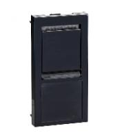 Scheider Electric Euro Module Black Delta 8 & Lexcom Data Outlet