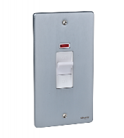 Schneider Electric Ultimate Low Profile  Cooker Switch (Brushed Chrome)
