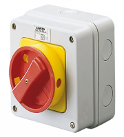 Gewiss 16A 2 Pole IP65 Rotary Switch (Red)