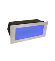 Gap Lighting 6W 316SS Recessed Blue Led Wall Light