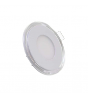 Gap Lighting Retro 10W Round Fixed Colour White With Blue Halo Led Downlight