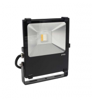 Gap Lighting 50W Rgb With Warmwhite 3000K Black Die Cast Aluminium Led Floodlight