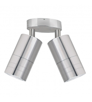 Gap Lighting Pillar 240V Stainless Steel GU10 Adjustable Twin Spotlight