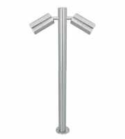 Gap Lighting Pillar 240V Stainless Steel GU10 Twin Spot Post Led Spikelight