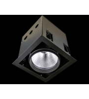 Collingwood Single Source Led Module Black Recessed Square 32W(White)