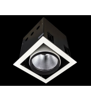 Collingwood Black Recessed Square Single Source Led Module 32W (White)