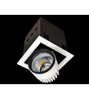 Collingwood Black Single Source Led Recessed Square Module 26W