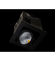 Collingwood Black Single Source Led Module Recessed Square 13W (White)