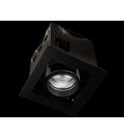 Collingwood Black Single Source Led Module Recessed Square 13W(White)