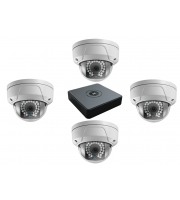 Hikvision HiWatch Series IP CCTV Kit With 4 Dome Camera's 2MP