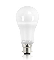 Integral 12W B22 Classic Globe Dimmable LED Lamp (Warm White)