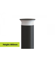 Integral Outdoor Bollard IK08 800MM IP65 420LM 9W 3000K Dark Grey